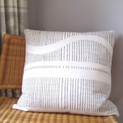 Image of Monochrome Wave Large Cushion