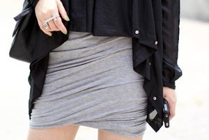 Image of T Twist Ruched Jersey Grey skirt