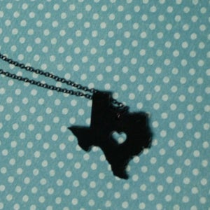 Image of I Heart Texas Necklace