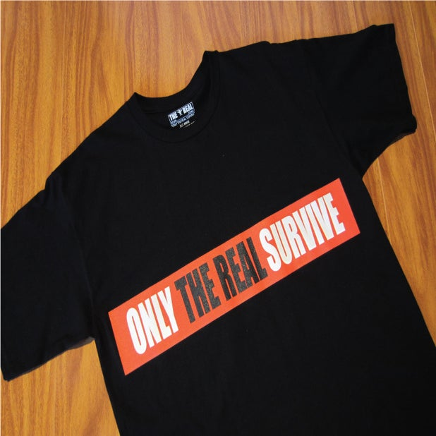 Image of ONLY THE REAL SURVIVE bar T-Shirt