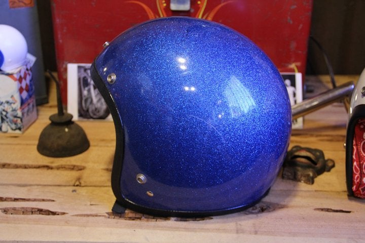 Image of 3/4 Helmet Blue Flake- Large