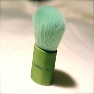 Image of Green Bamboo Kabuki Brush