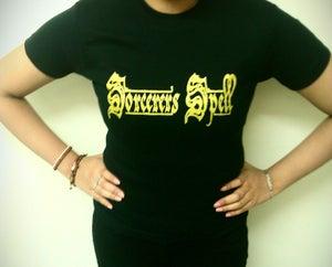 Image of Logo skinny-fit girlie shirt