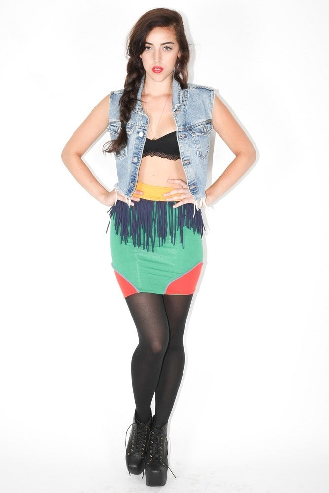 Image of Fringe Skirt