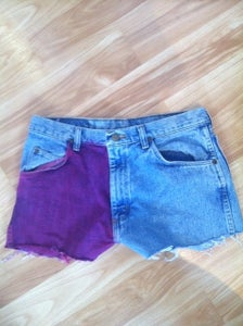 Image of Hand Dyed High Waist Shorts