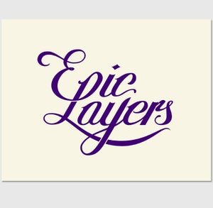 Image of Epic Layers Lettering (Pink and Purple)