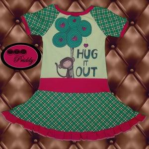Image of Hug It Out Monkey Twirl Dress - Size 5/6
