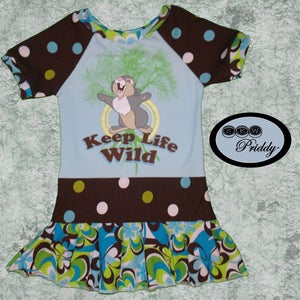 Image of **SOLD OUT** Thumper Keep Life Wild Dress - Size 2T/3T