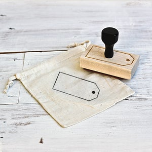 Image of 'Gift Tag' Wooden Stamp