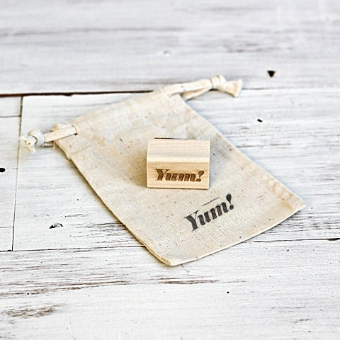 Image of Mini 'Yum' Wooden Stamp