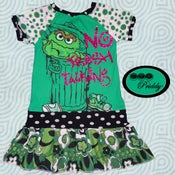 Image of **SOLD OUT** Oscar The Grouch No Trash Talking Dress - Size 7/8