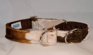 Image of Cow Faux-Fur Martingale Collar in the category  on Uncommon Paws.