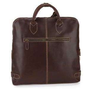 "Image of Handmade Genuine Leather Briefcase Tote Handbag Messenger 14"" Laptop / 15"" Macbook Pro Bag (n68)"