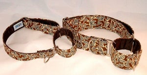Image of Retro Leaves Martingale Collar in the category  on Uncommon Paws.