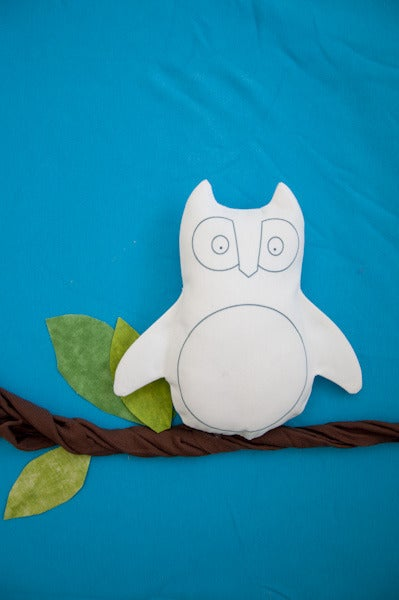 "Image of Mini Owl ""Blank Canvas"" Softie"