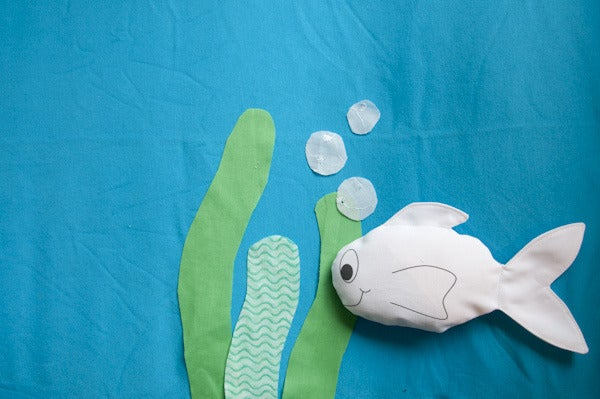 "Image of Mini Fish ""Blank Canvas"" Softie"