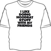 Image of I Like Doing Hoodrat Stuff With My Friends T-shirt