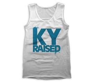 Image of KY Raised Women's Tank in White & Teal
