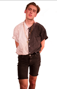 Image of BLACK & WHITE BUTTON UP