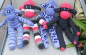 Image of Large Fluffy Sock Monkeys