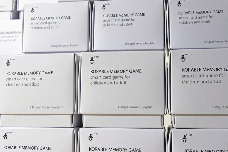 Image of KORABLE MEMORY GAME - 48 cards, smart card game for children and adult, bilingual Korean/English