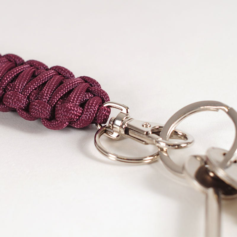 Image of Paracord Keyclip - Burgundy
