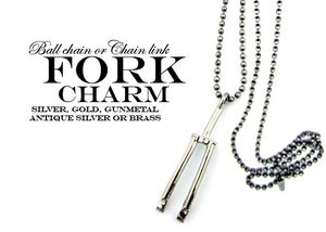 Image of BICYCLE FORK CHARM NECKLACE