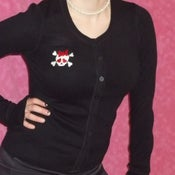 Image of Girlie Skull & Crossbones Cardigan