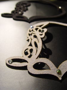 Image of Asymmetrical Shadow Scroll Necklace