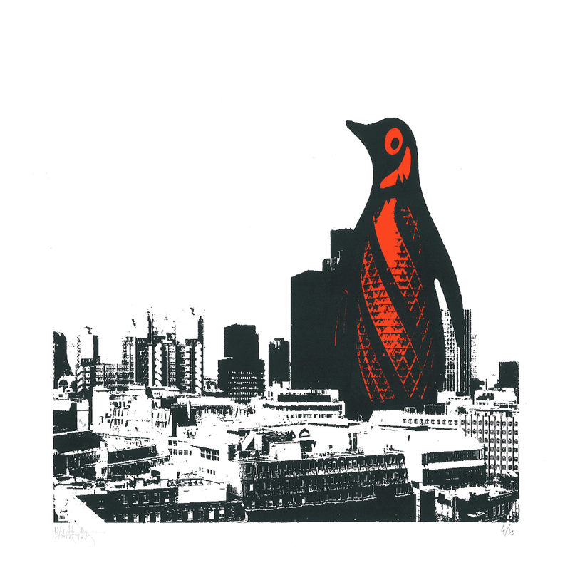 Image of London Penguin - Orange