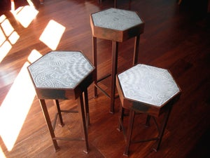 Image of Gaudi design Paseig de Gracia nesting tables