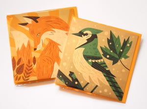 Image of Fox & Bird Greetings Cards