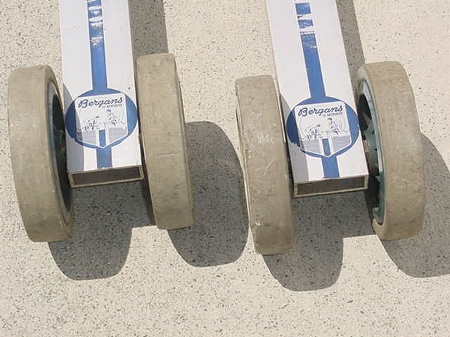 Image of Vintage 70's Bergans Norway Roller Skis - Cross Country Extreme