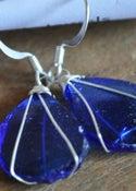 Image of Glass earrings (blue)
