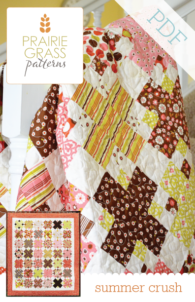 Image of Summer Crush: PDF Quilting Pattern #114