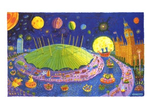 Image of A1 London Signed Print - 'Millennium Dome / O2 Arena'