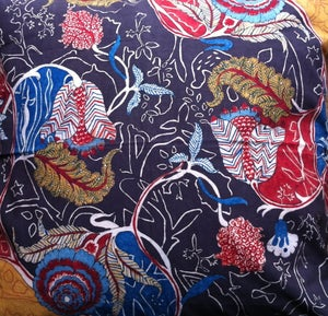 Image of HAND PAINTED CHINTZ CUSHION COVERS.