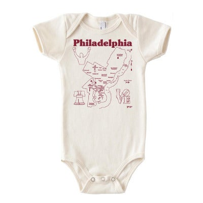 Image of City of Philadephia Baby Onesie