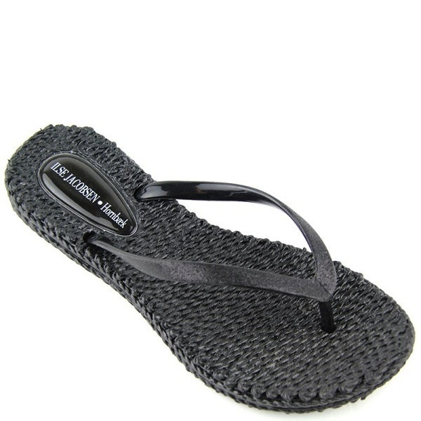 Image of Ilse Jacobsen Rubber Flip-Flops (Black)