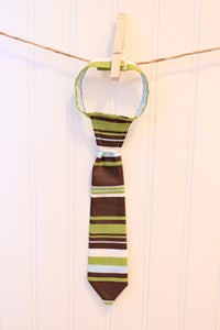 Image of Green/Lt Blue/Chocolate Brown Stripe