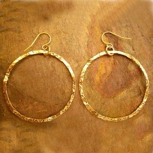 Image of 14K Gold Filled Hoop Earrings