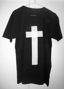 "Image of ""Cross"" Play-Shirt Basic T-shirt (Black)"