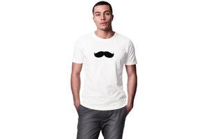 """Image of """"Moustaches"""" Play-Shirt Basic T-shirt (White)"""