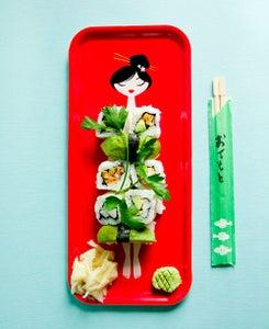 Image of Nyotaimori sushi tray
