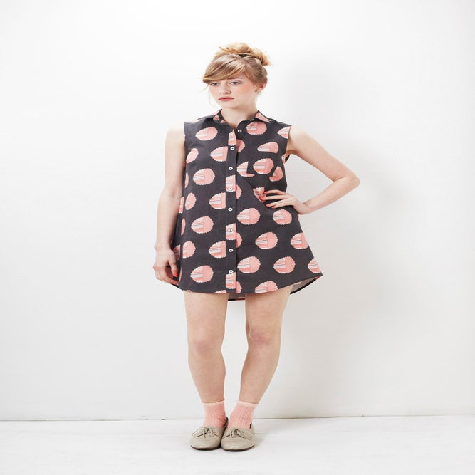 Image of Alder Shirtdress : Grapefruit