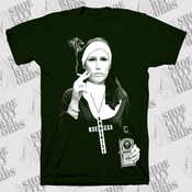 Image of Shoe City Records Drinking/Smoking Nun Tee