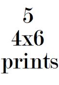 Image of 5 4x6 prints