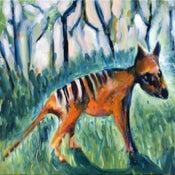 Image of Standing thylacine