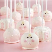 Image of 12 Baby Girl Cake Pops