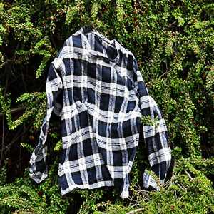 Image of blue flannel sweater